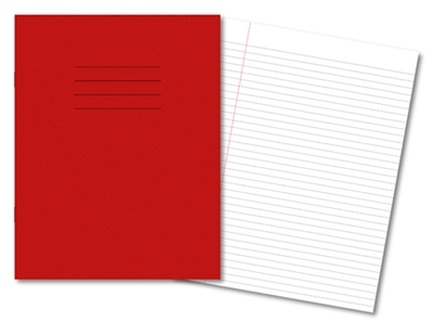 Picture of 9 x 7 6mm Ruled and Margin Exercise Books