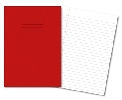 Picture of A4 10mm Ruled & Margin  Exercise Books